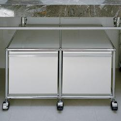 USM Haller Pedestal | Pure White | Pedestals | USM