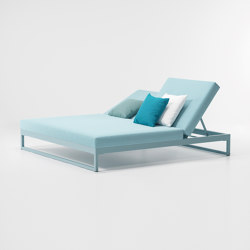 Landscape double lounger with 5-position | Sun loungers | KETTAL