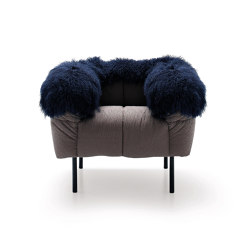 Pecorelle Armchair - Version with fur accessory | Armchairs | ARFLEX