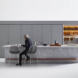 Lignum et Lapis, New Pocket System | Fitted kitchens | Arclinea