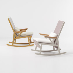 Vieques rocking chair teak armrests | Sillones | KETTAL