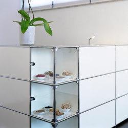 USM Haller Reception Station   Pure White   Counters   USM