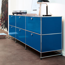 USM Haller Media | Gentian Blue | Multimedia sideboards | USM