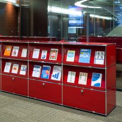 USM Haller Sideboard | USM Ruby Red | Display stands | USM
