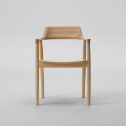 Hiroshima Arm chair High (Wooden seat) | Chairs | MARUNI