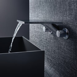 AXOR Massaud 3-Hole Basin Mixer for concealed installation wall mounting with spout 262 mm DN15 | Wash basin taps | AXOR