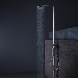 AXOR Starck Shower Column with thermostat and plate overhead shower Ø 240mm DN15 | Shower controls | AXOR