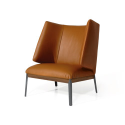 Hug Armchair - High Backrest Leather Version | Armchairs | ARFLEX