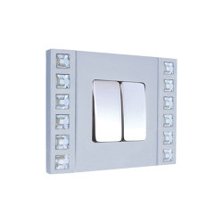 Sand-Velvet-Décor | Double Push-Button Switch | Two-way switches | FEDE