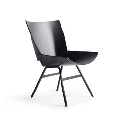 Shell Lounge Chair Black Oak | Poltrone | Rex Kralj