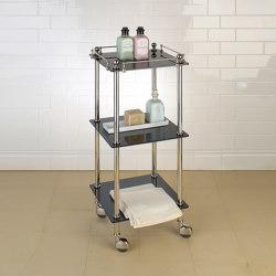 Tavolino with black glass shelves | Bath shelving | Aquadomo