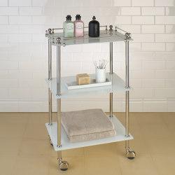 Tavolino white glass | Bath shelving | Aquadomo
