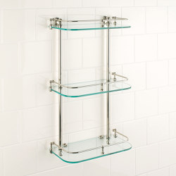 Vienna wall shelf clear glass | Bath shelving | Aquadomo