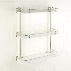 Vienna wall shelf white glass | Bath shelving | Aquadomo