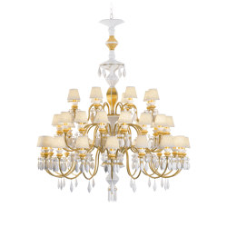 Belle de Nuit 40 Lights Chandelier | Golden Luster (CE/UK) | Chandeliers | Lladró