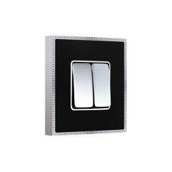 New Belle Époque Metal | Interruttore A Doppio Pulsante | Interruttore bilanciere | FEDE