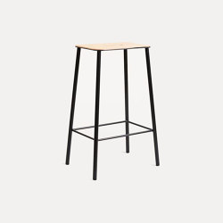 Adam stool H65 Black Leather | Taburetes de bar | Frama