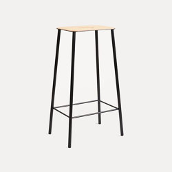 Adam stool H76 Black Leather | Taburetes de bar | Frama