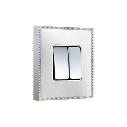 New Belle Époque Metal   Double Push-Button Switch   Two-way switches   FEDE