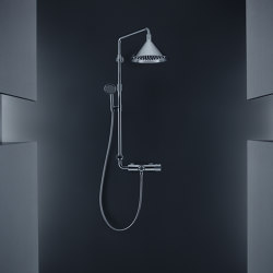 AXOR showerpipe with thermostatic mixer and 2jet overhead shower | Shower controls | AXOR