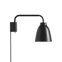 Caravaggio™ | Read Wall Black | Wall lights | Fritz Hansen