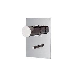 Fluid F3859X2 | Mezclador empotrado con desviador 2 salidas | Grifería para duchas | Fima Carlo Frattini