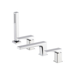 Zeta F3974 | Deck mounted bath mixer | Bath taps | Fima Carlo Frattini
