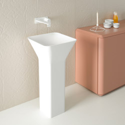 Fluent Freestanding Solidsurface Washbasin | Wash basins | Inbani