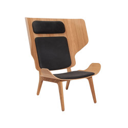 Mammoth Chair Slim, Natural / Leather - Vintage Leather, Anthracite | Sessel | NORR11