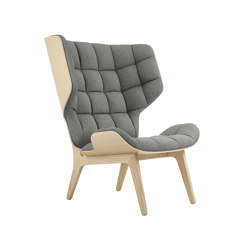 Mammoth Chair, Natural / Wool Light Grey 1000 | Sillones | NORR11