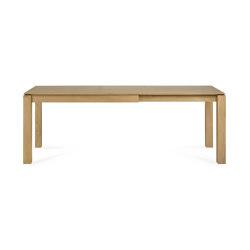Slice | Oak extendable dining table - legs 8 x 8 cm | Tavoli pranzo | Ethnicraft