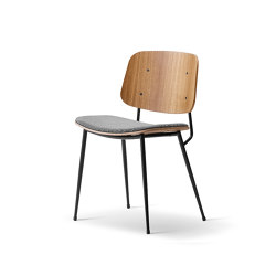 Søborg Steel Base - seat upholstered | Sillas | Fredericia Furniture