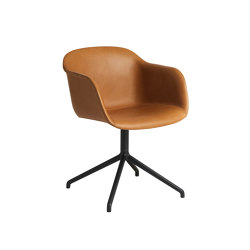 Fiber Armchair | Swivel Base | Leather | Stühle | Muuto