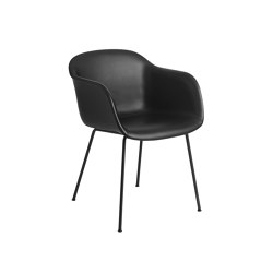 Fiber Armchair | Tube Base | Leather | Chairs | Muuto