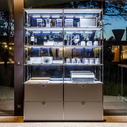 USM Haller Showcase | Light Gray | Display cabinets | USM