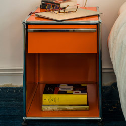 USM Haller Nightstand | Pure Orange | Mesillas de noche | USM