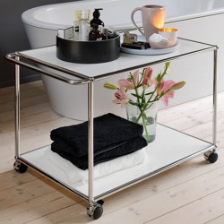 USM Haller Serving Cart | Pure White | Carrelli | USM