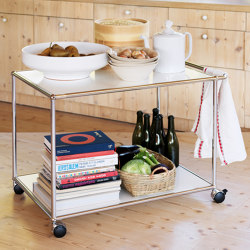 USM Haller Serving Cart | Pure White | Trolleys | USM