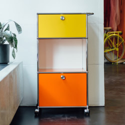 USM Haller Serving Cart | Golden Yellow, Pure Orange, Pure White | Carritos | USM