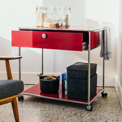 USM Haller Serving Cart | USM Ruby Red | Carritos | USM