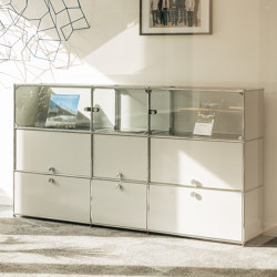 USM Haller Showcase | Pure White | Display cabinets | USM