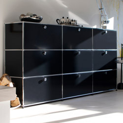 USM Haller Storage | Graphite Black | Credenze | USM