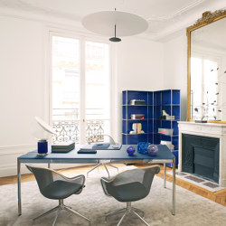 USM Haller Table | Steel Blue Glass | Tables collectivités | USM