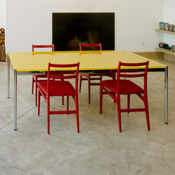 USM Haller Table | Golden Yellow Glass | Contract tables | USM