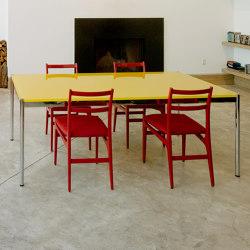 USM Haller Table | Golden Yellow Glass | Tables collectivités | USM