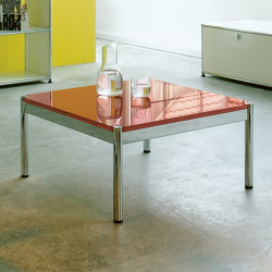 USM Haller Low Table | Pure Orange Glass | Tavolini bassi | USM