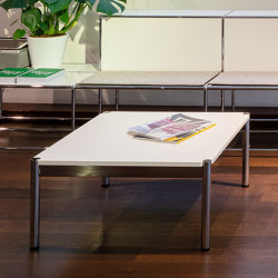 USM Haller Low Table | Pure white | Coffee tables | USM