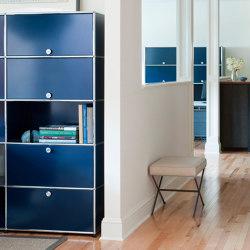 USM Haller Credenza | Steel Blue | Cabinets | USM