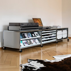 USM Haller Media | Light Gray | Multimedia sideboards | USM