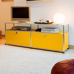 USM Haller Media | Golden Yellow | Multimedia sideboards | USM